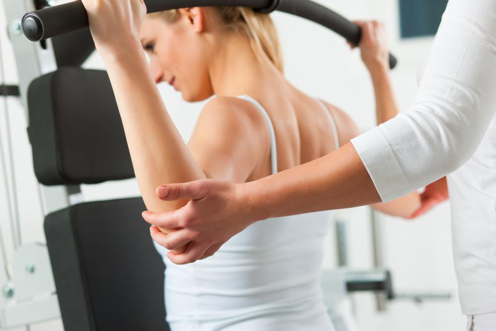 woman doing physical therapy in Pompton Lakes, NJ